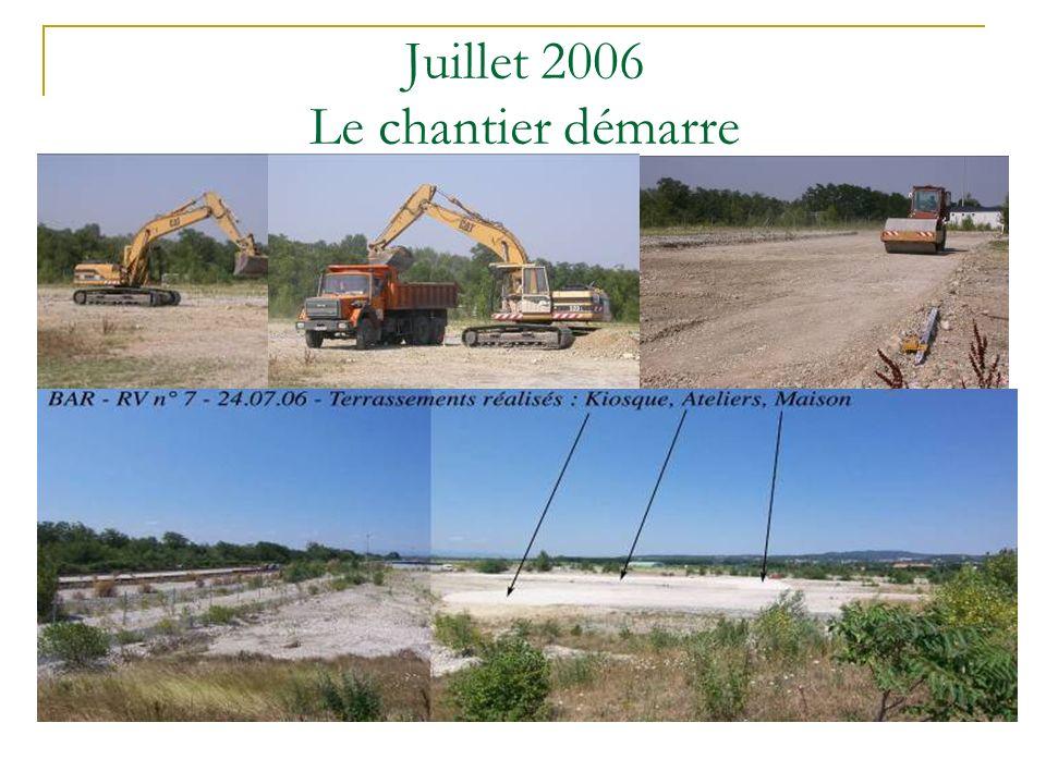 Juillet 2006 Le chantier démarre