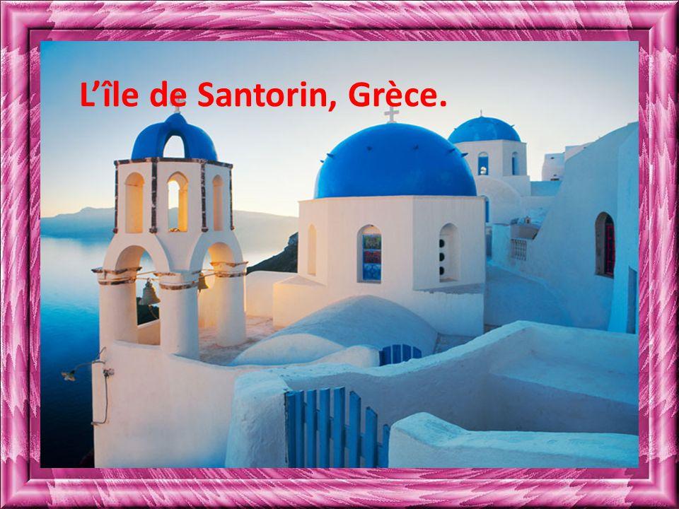 Lîle de Santorin, Grèce.