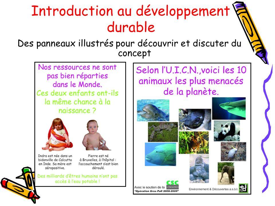 Introduction au développement durable Des panneaux illustrés pour découvrir et discuter du concept