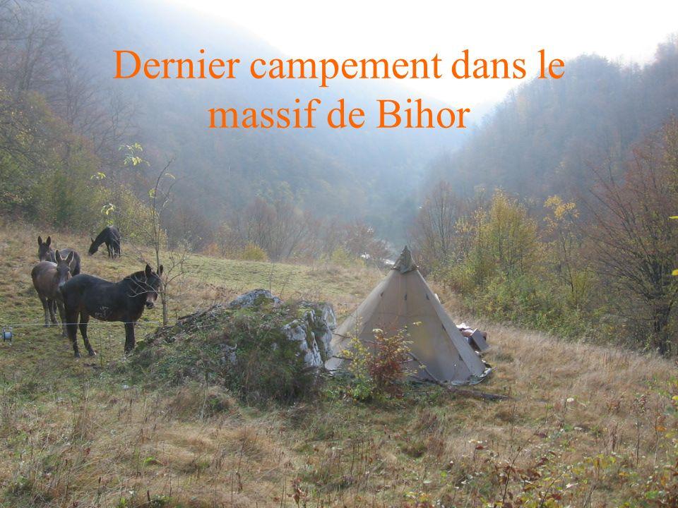 Dernier campement dans le massif de Bihor