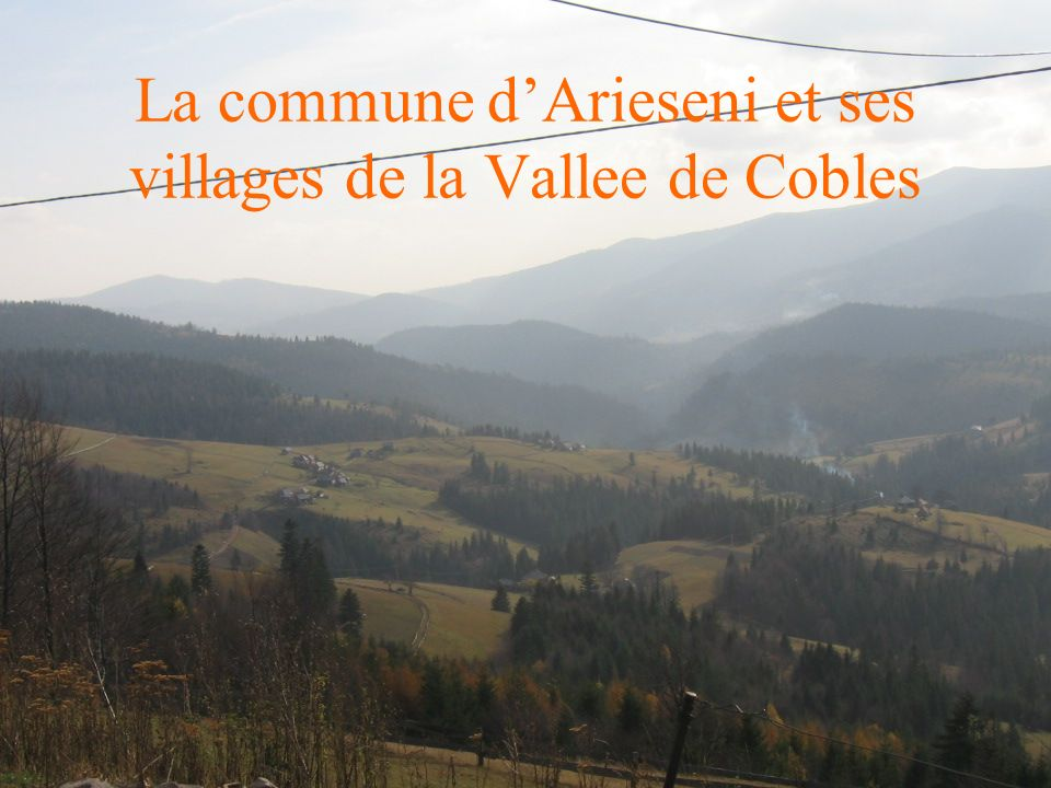 La commune dArieseni et ses villages de la Vallee de Cobles