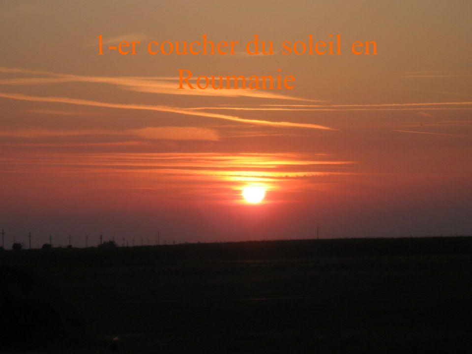 1-er coucher du soleil en Roumanie