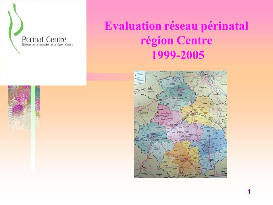 1 Evaluation réseau périnatal région Centre 1999-2005