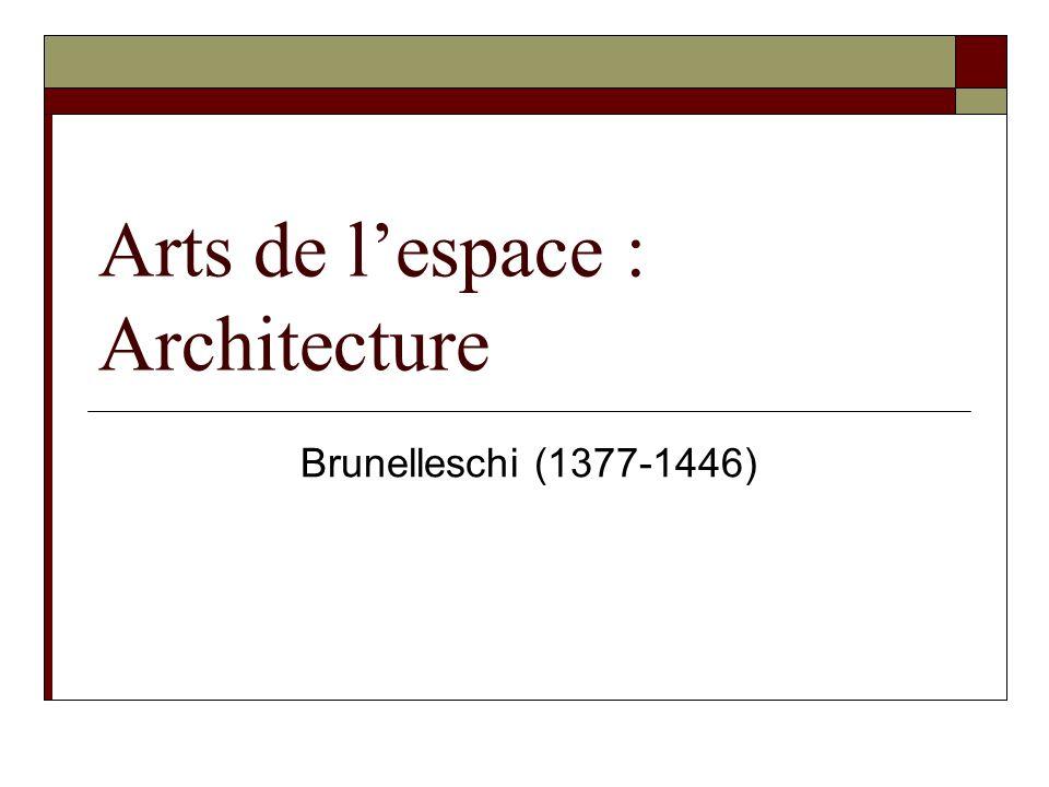 Arts de lespace : Architecture Brunelleschi (1377-1446)