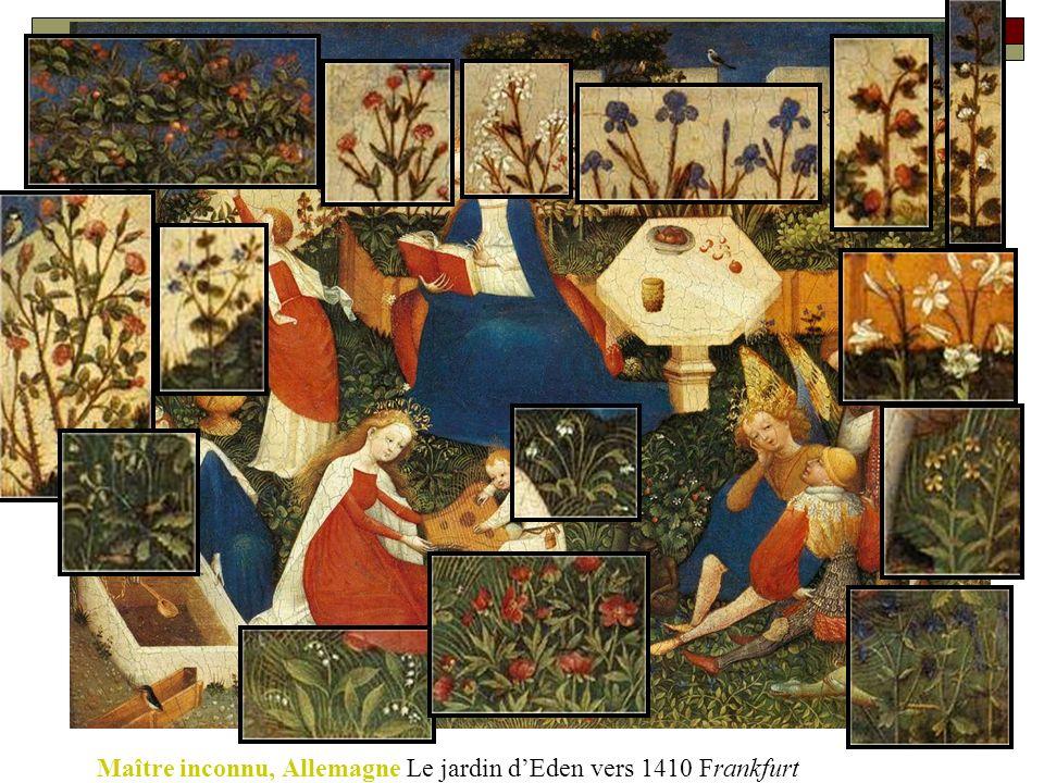 Maître inconnu, Allemagne Le jardin dEden vers 1410 Frankfurt