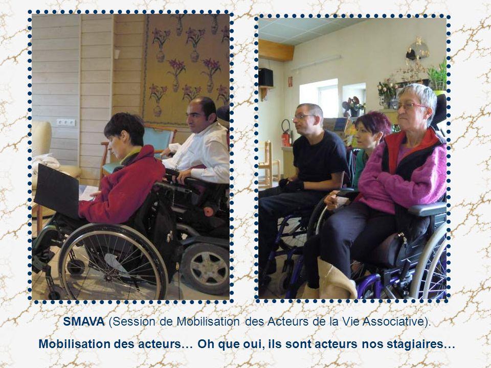 SMAVA (Session de Mobilisation des Acteurs de la Vie Associative). Mobilisation des acteurs… Oh que oui, ils sont acteurs nos stagiaires…