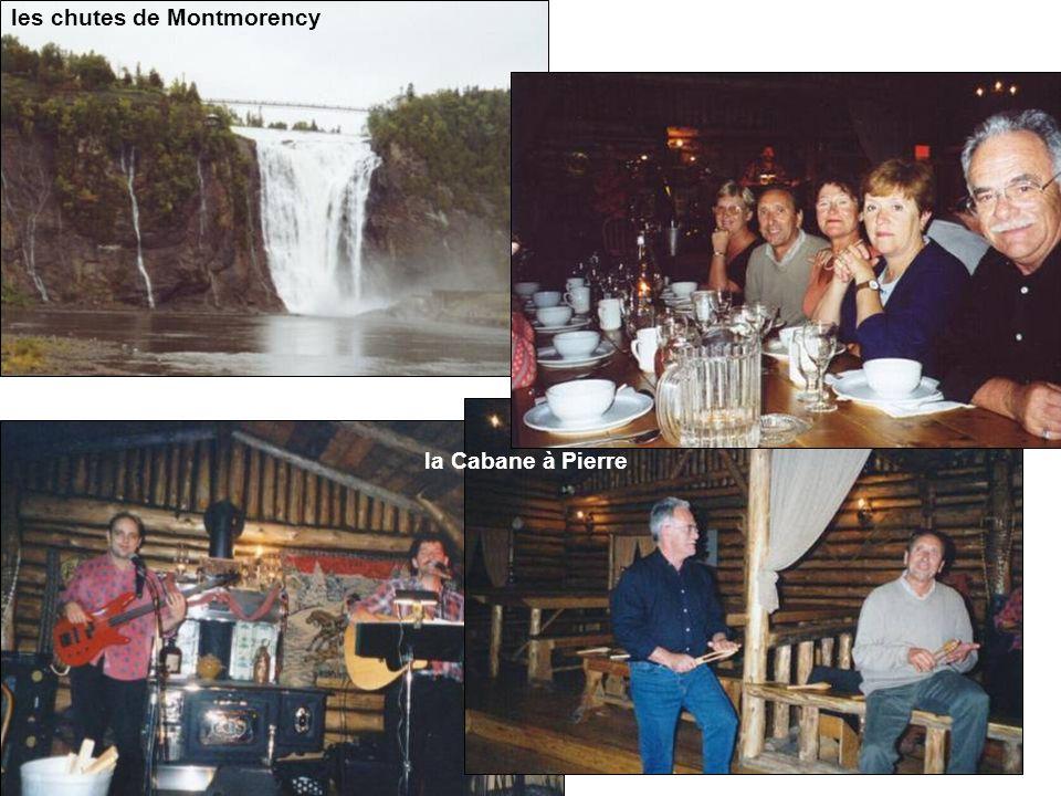 les chutes de Montmorency la Cabane à Pierre