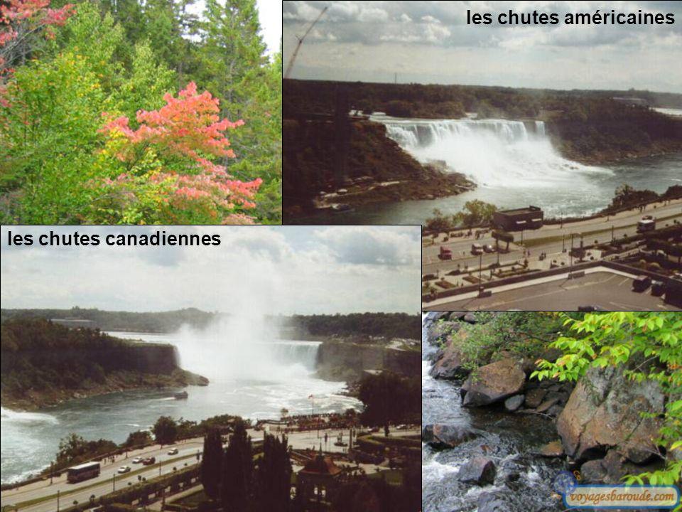 les chutes américaines les chutes canadiennes