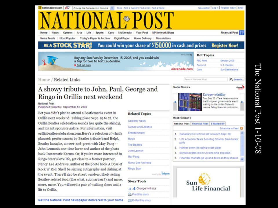 The National Post 1-10-08
