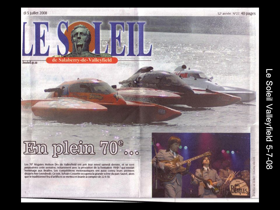 Le Soleil Valleyfield 5-7-08