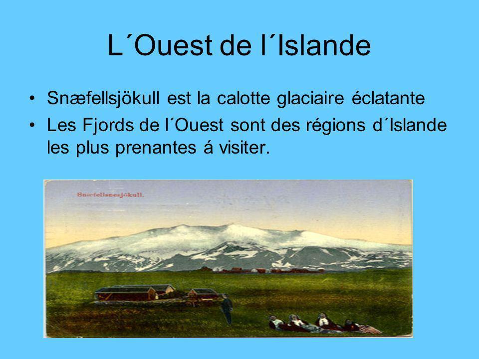 L´Ouest de l´Islande Snæfellsjökull est la calotte glaciaire éclatante Les Fjords de l´Ouest sont des régions d´Islande les plus prenantes á visiter.