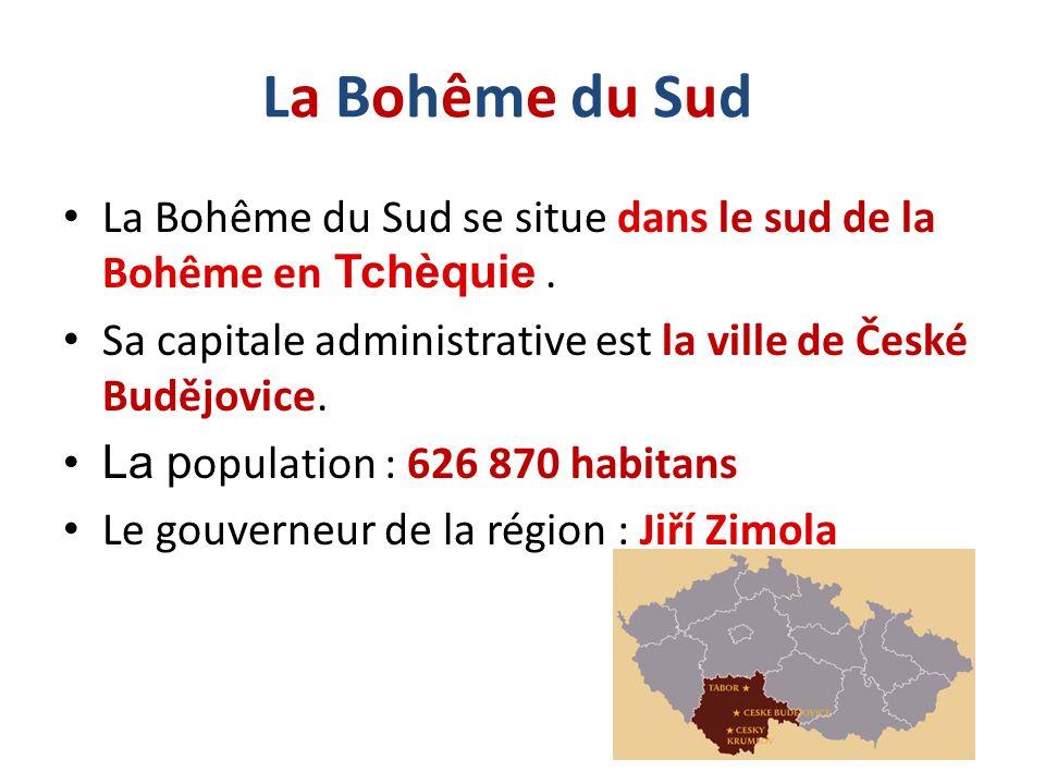 La Bohême du SudLa Bohême du Sud La Bohême du Sud se situe dans le sud de la Bohême en Tchèquie. Sa capitale administrative est la ville de České Budě