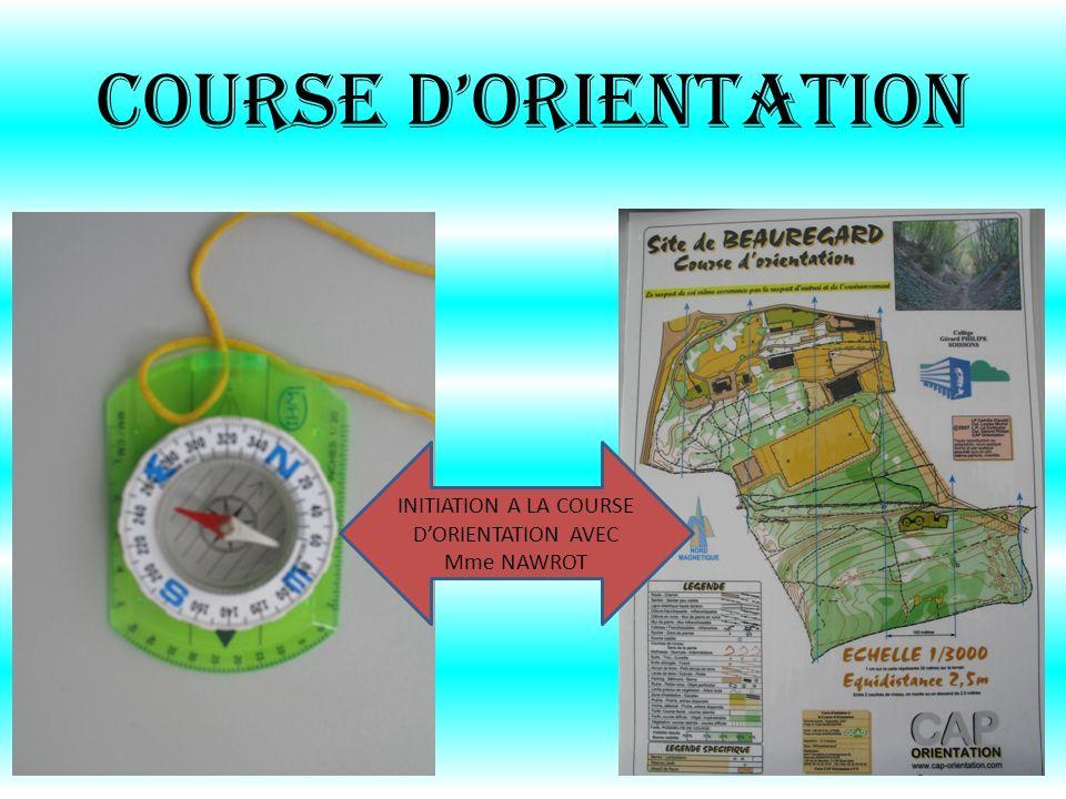 COURSE DORIENTATION INITIATION A LA COURSE DORIENTATION AVEC Mme NAWROT