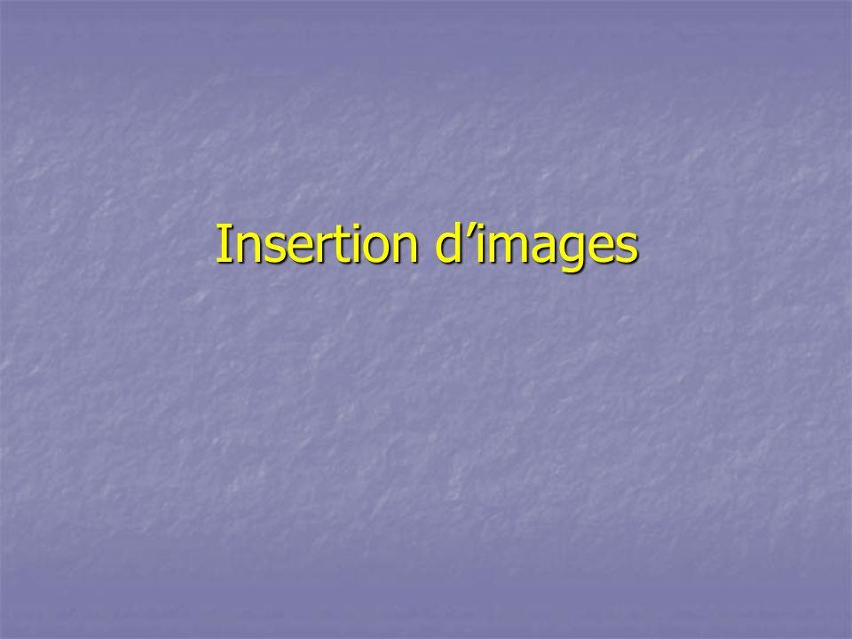 Insertion dimages
