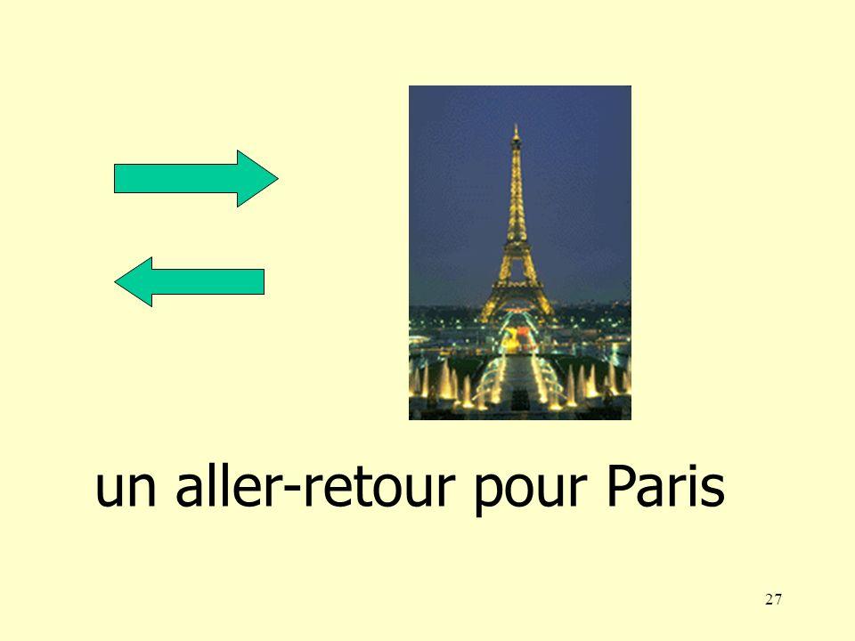 27 un aller-retour pour Paris