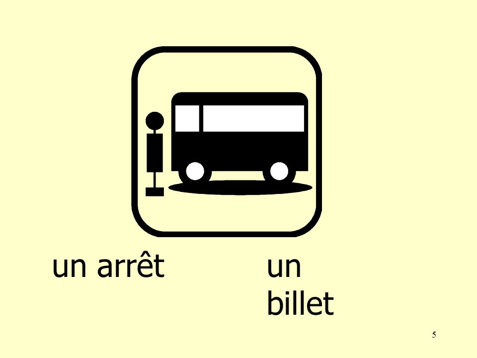 4 un autobus un arrêt