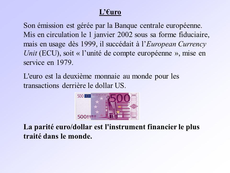Son émission est gérée par la Banque centrale européenne.