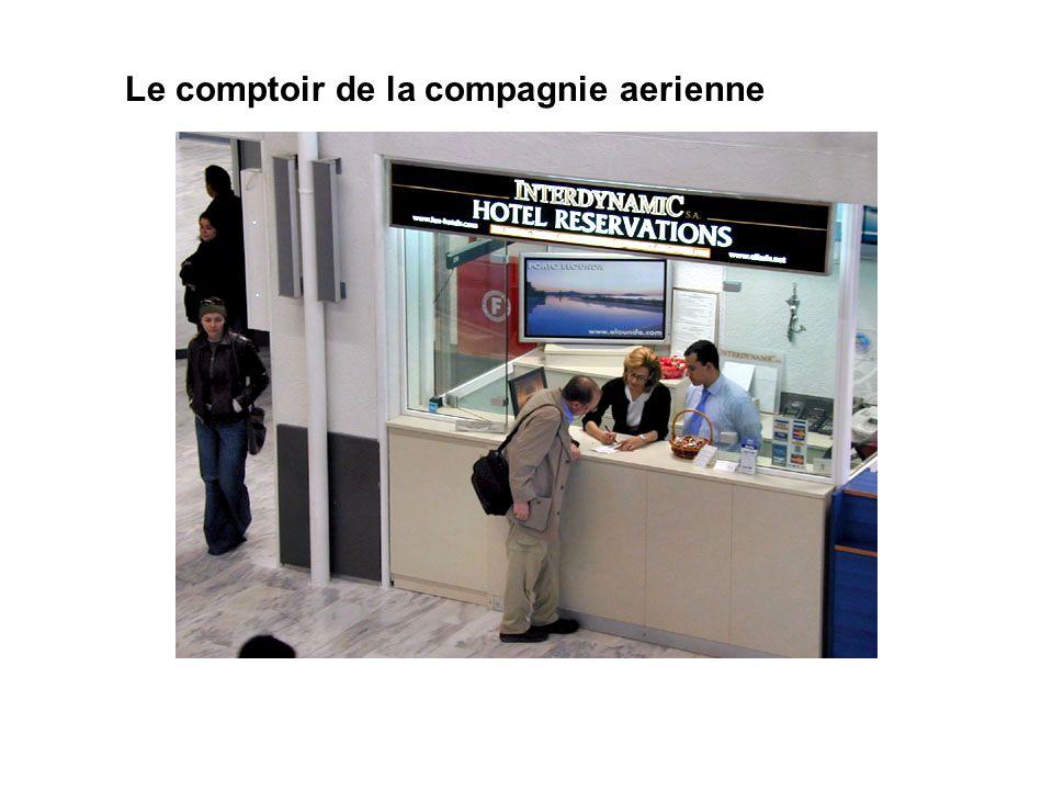 Le comptoir de la compagnie aerienne