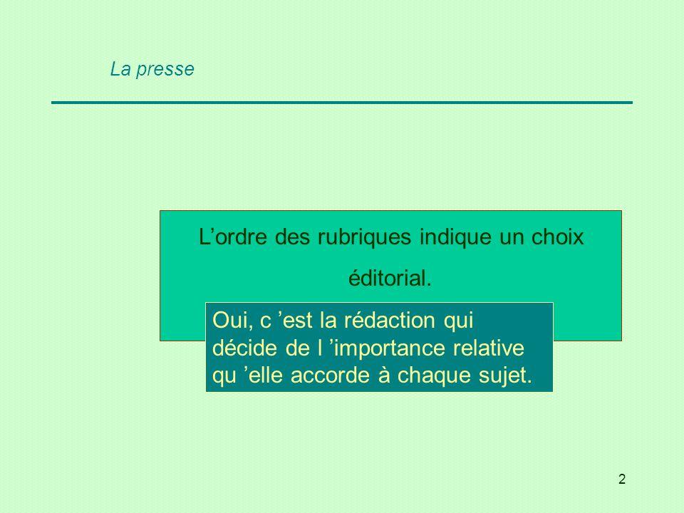 23 Lattaque est le texte placé sous le titre, en caractères gras ou plus grands qui résume larticle.