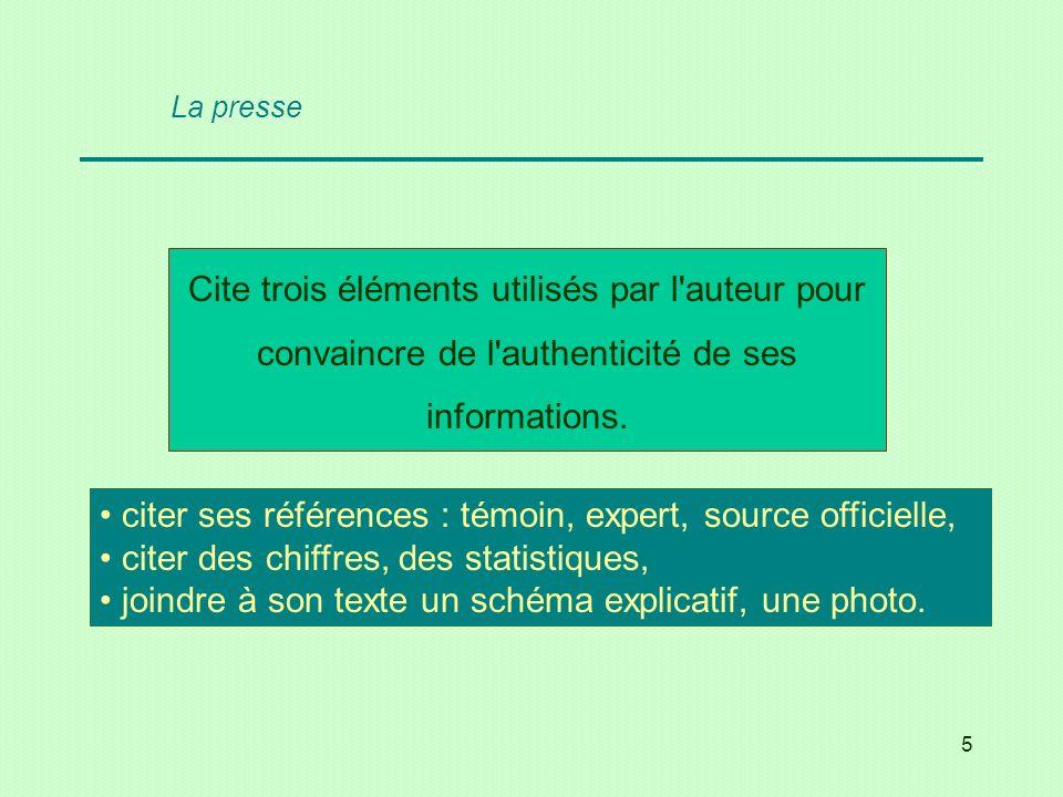 36 Cite deux journaux belges francophones de diffusion régionale et deux à audience nationale ou internationale.