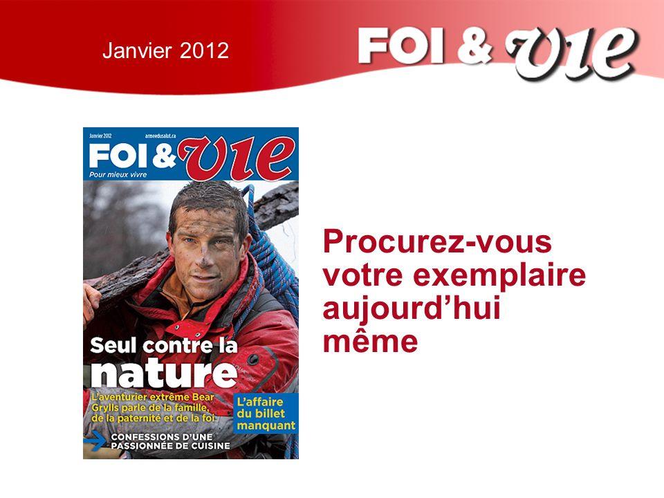 Janvier 2012 Procurez-vous votre exemplaire aujourdhui même