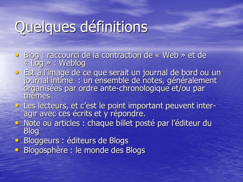 Etude sur ces chiffres Force est de constater que les français sont visiblement très friands de cette blogosphère.