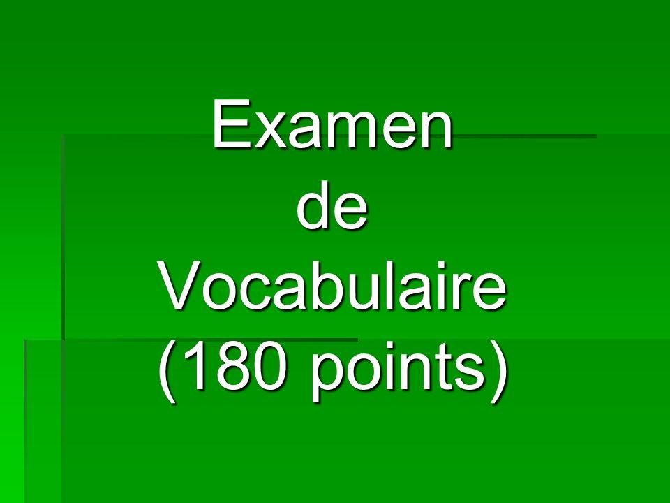 ExamendeVocabulaire (180 points)