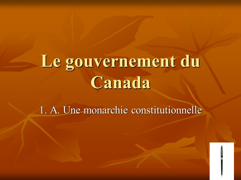 1.B) Nommez les trois branches du gouvernement: Nommez les trois branches du gouvernement: