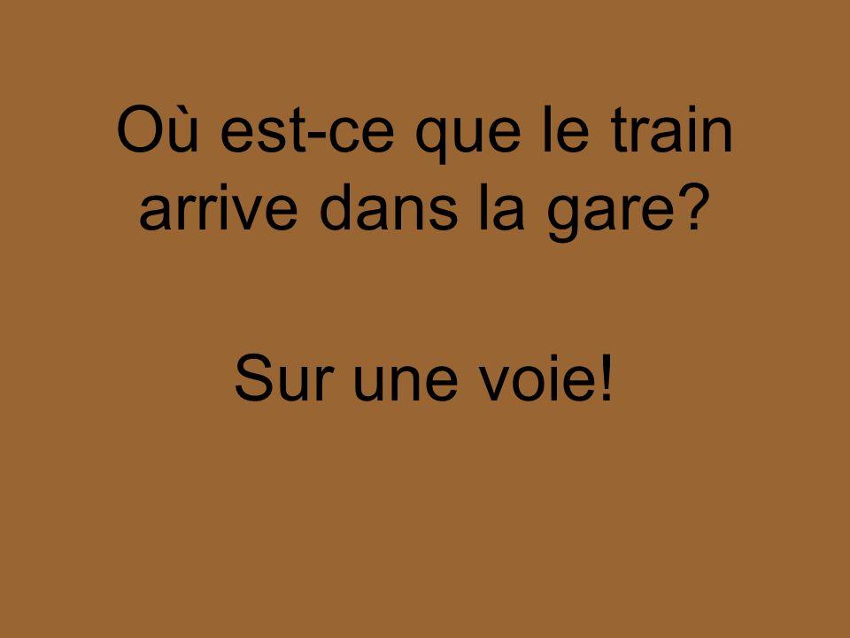 Où est-ce que le train arrive dans la gare? Sur une voie!
