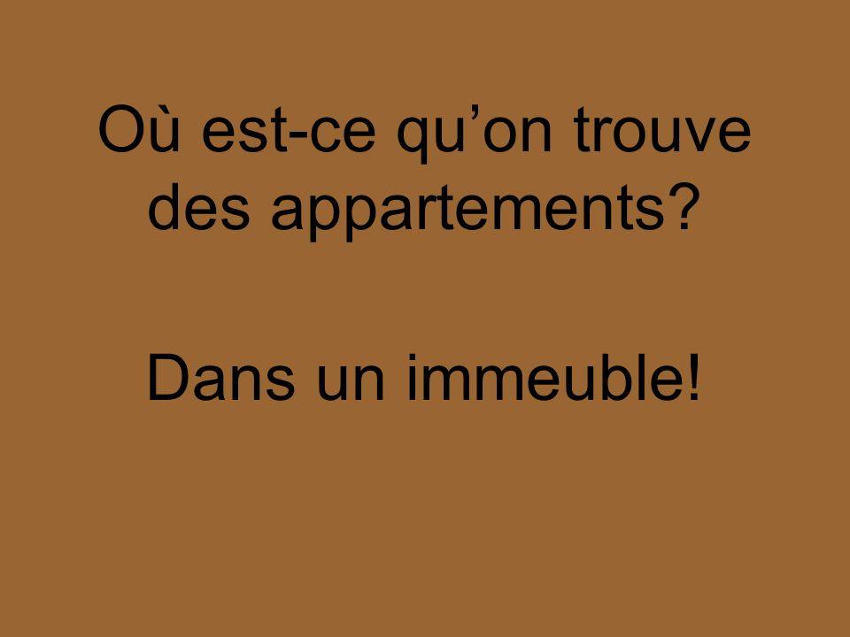 Quest-ce quon trouve dans un immeuble Des appartements!