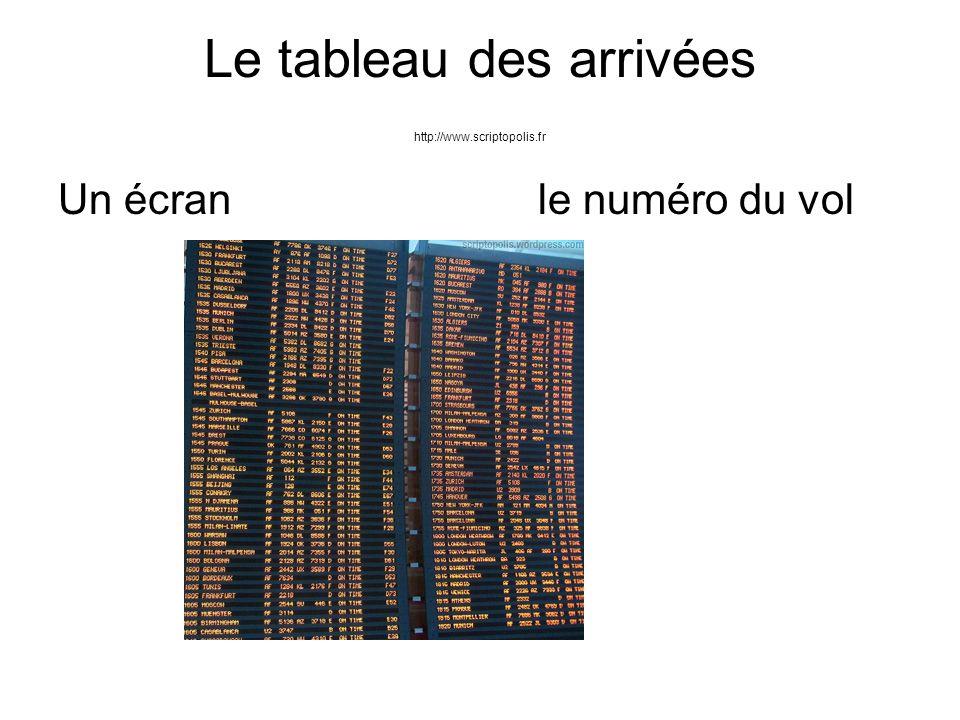 Le tableau des arrivées http://www.scriptopolis.fr Un écranle numéro du vol