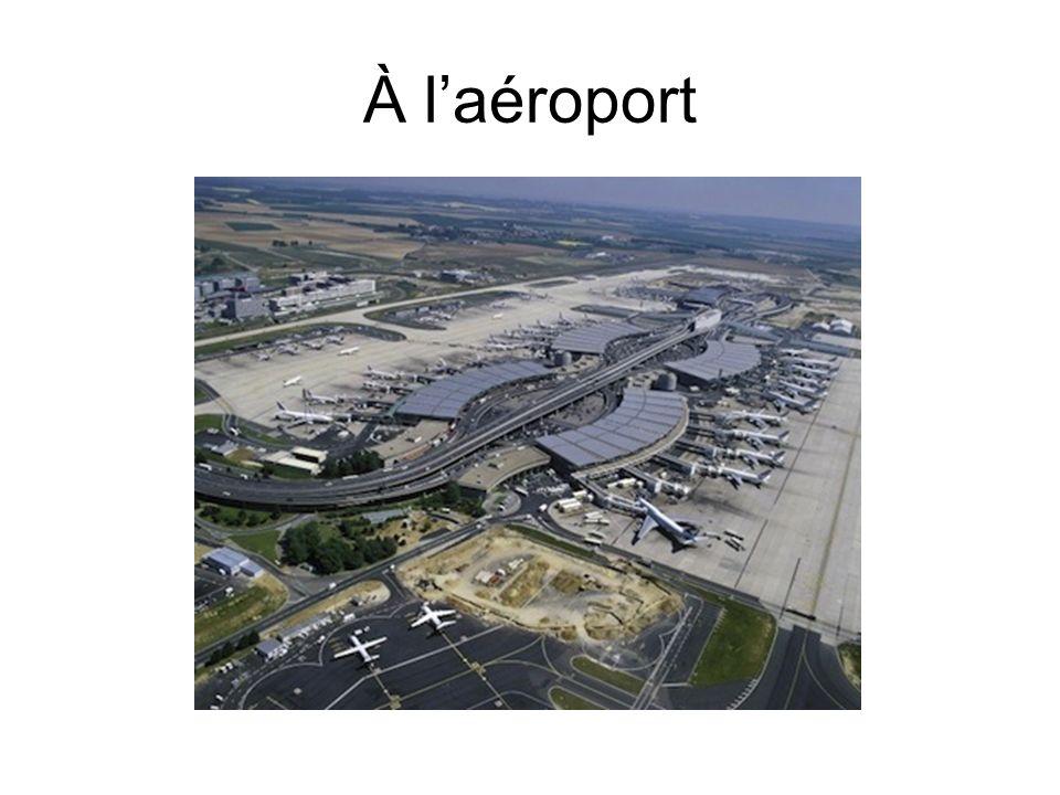 À laéroport