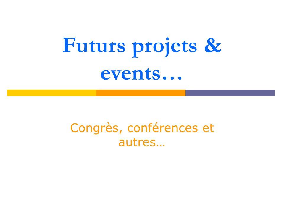 Congrès 2011 « Congrès national pour étudiant en psychologie » Organisé par …association avec laquelle nous collaborons