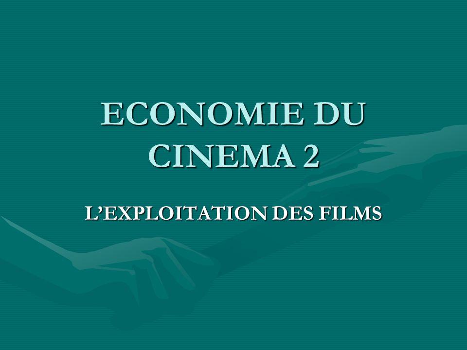 ECONOMIE DU CINEMA 2 LEXPLOITATION DES FILMS