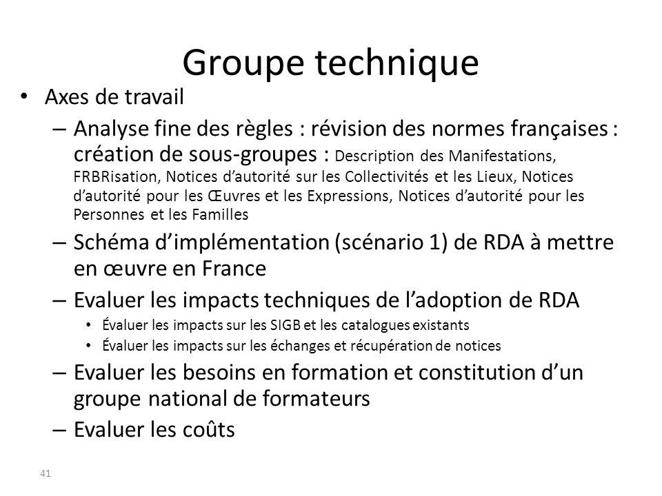 Groupe technique Axes de travail – Analyse fine des règles : révision des normes françaises : création de sous-groupes : Description des Manifestation