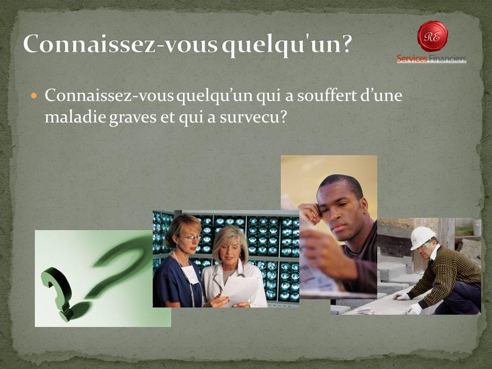 Connaissez-vous quelquun qui a souffert dune maladie graves et qui a survecu?