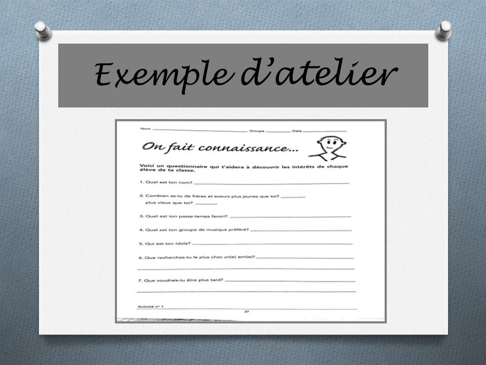 Exemple datelier