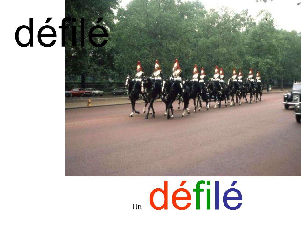 défilé Un défilé
