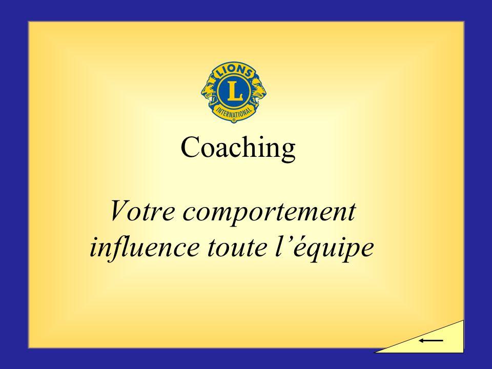Pause ? Voulez-vous observer une pause avant dentamer la section suivante consacrée au coaching ?