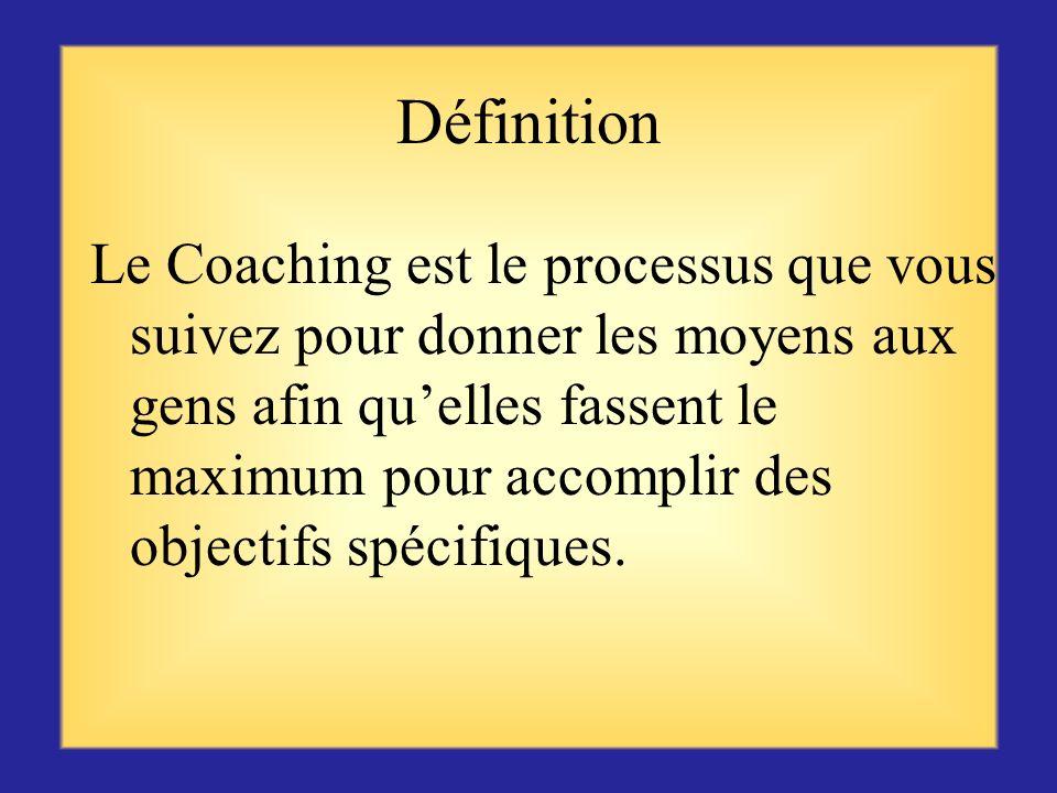 Coaching Votre comportement influence toute léquipe