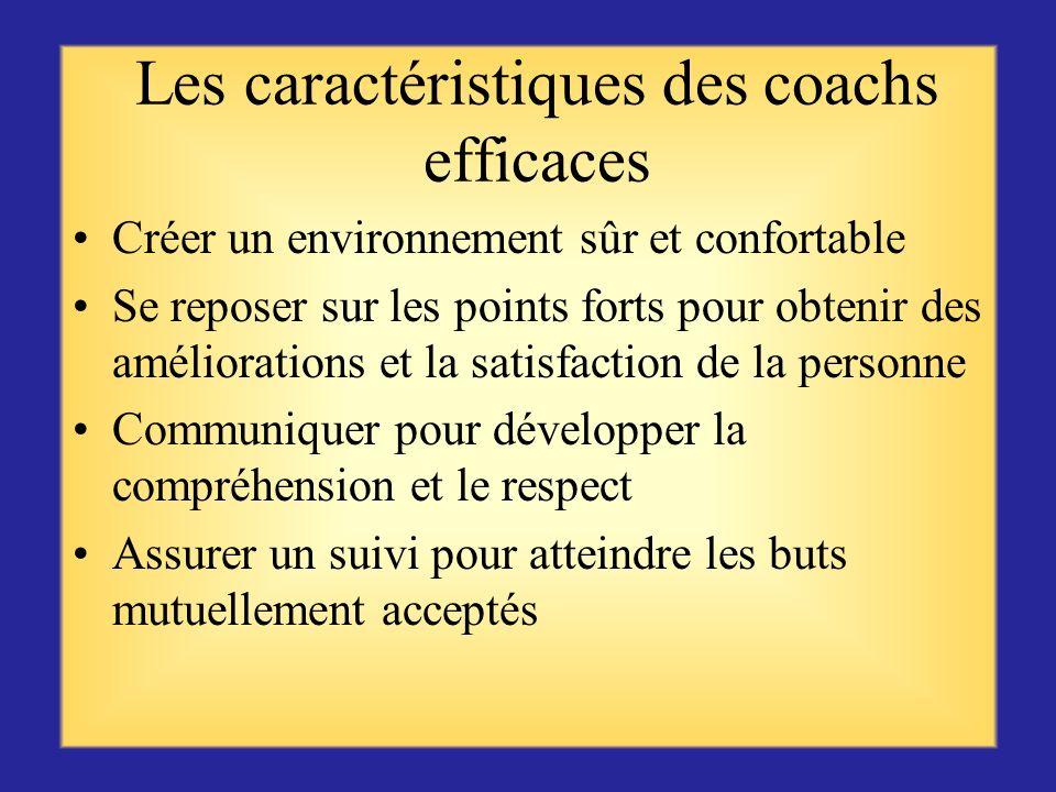 Avantages du coaching Le soutien visant à combler tout manque de connaissance du recrutement, des actions de sauvegarde de leffectif et de leur mise e