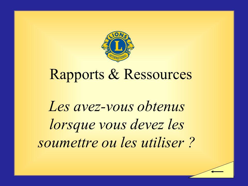 Pause ? Voulez-vous observer une pause avant dentamer la section suivante consacrée aux rapports et ressources ?