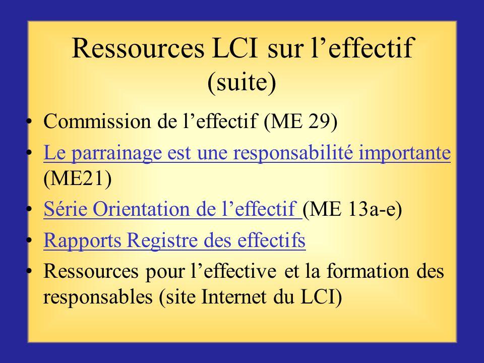 Ressources LCI pour leffectif Je suis Lion (ME 37)Je suis Lion Les Lions font la différence (ME 40)Les Lions font la différence Guide du président de