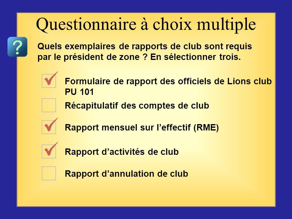 Que pensez-vous de votre club ? Rapport mensuel deffectif (RME) Campagne présidentielle de maintien de leffectif Processus dexcellence de club Parrain