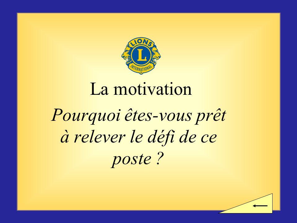 Une pause ? Voulez-vous observer une pause avant dentamer la section suivante consacrée à la motivation ?