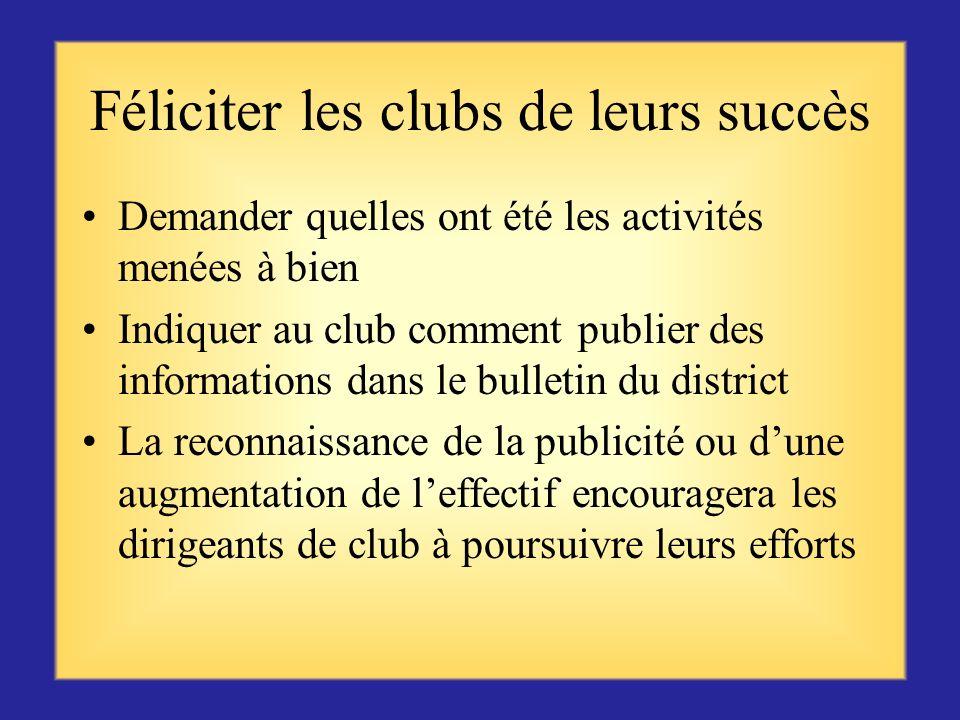 Proposer votre aide Expliquer aux clubs ou officiels de club comment planifier une oeuvre sociale, de levée de fonds ou de sauvegarde de leffectif Pro