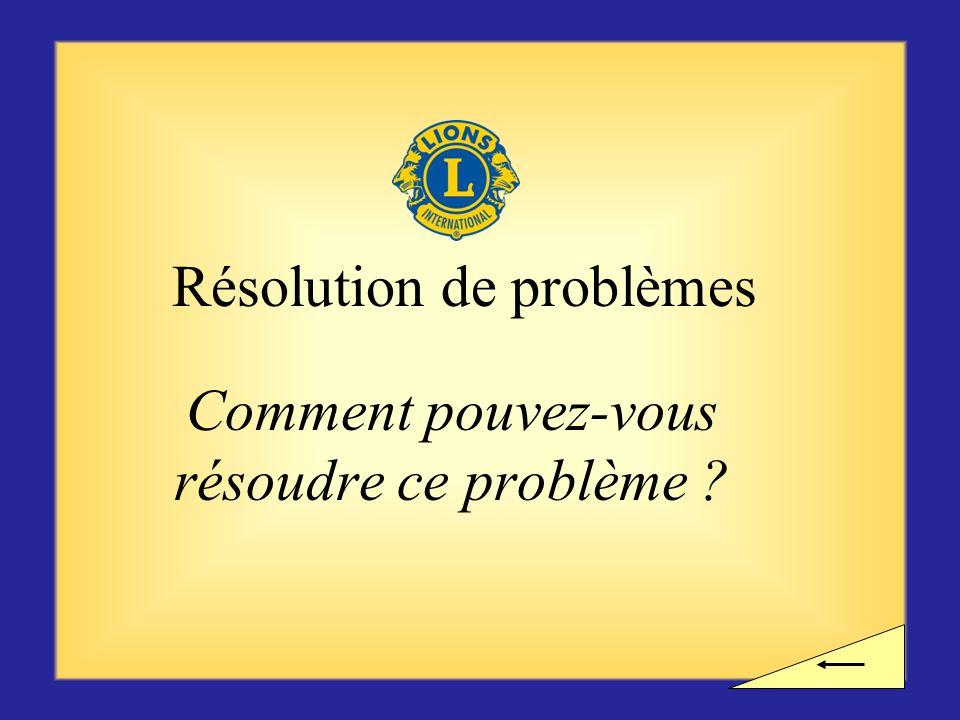 Pause ? Voulez-vous observer une pause avant dentamer la prochaine section sur la résolution de problèmes ?
