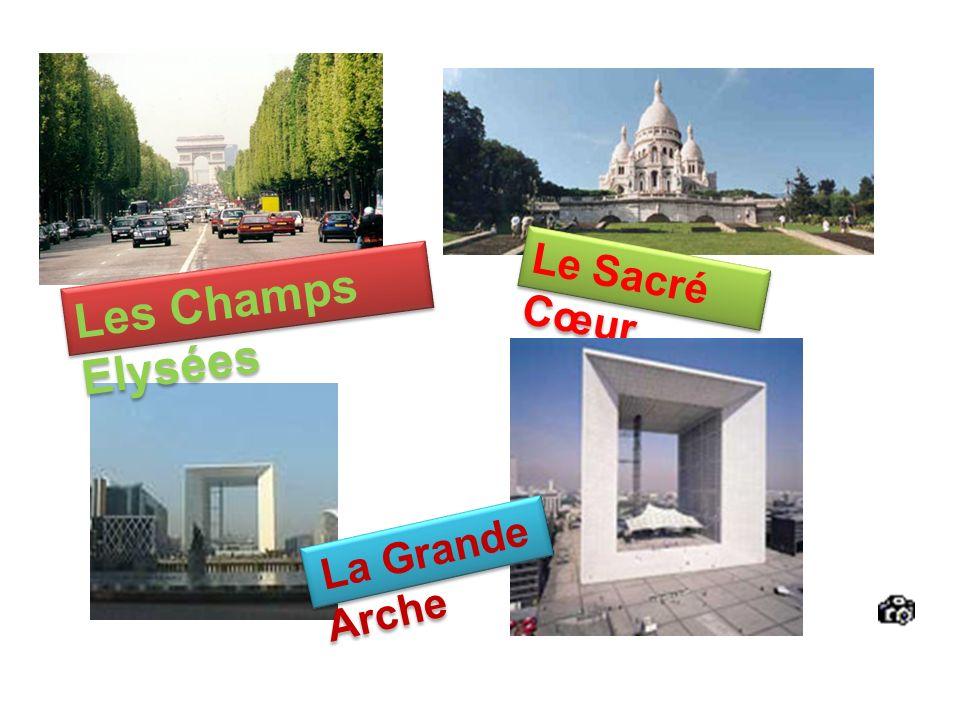 Les Champs Elysées Le Sacré Cœur La Grande Arche