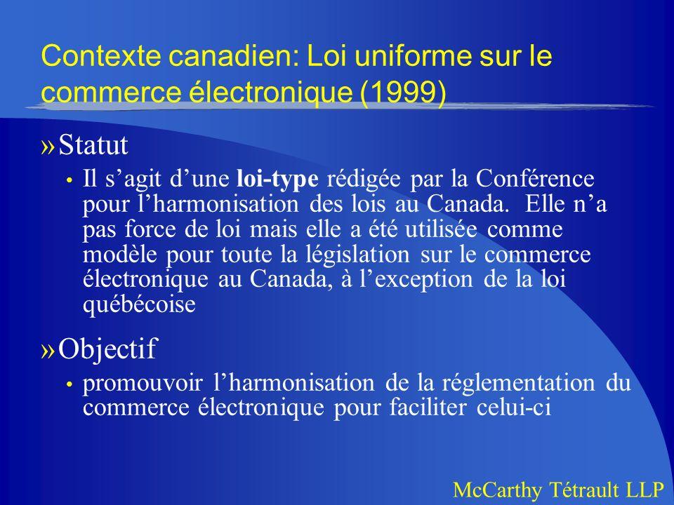 McCarthy Tétrault LLP B.Lécrit »Et alors.