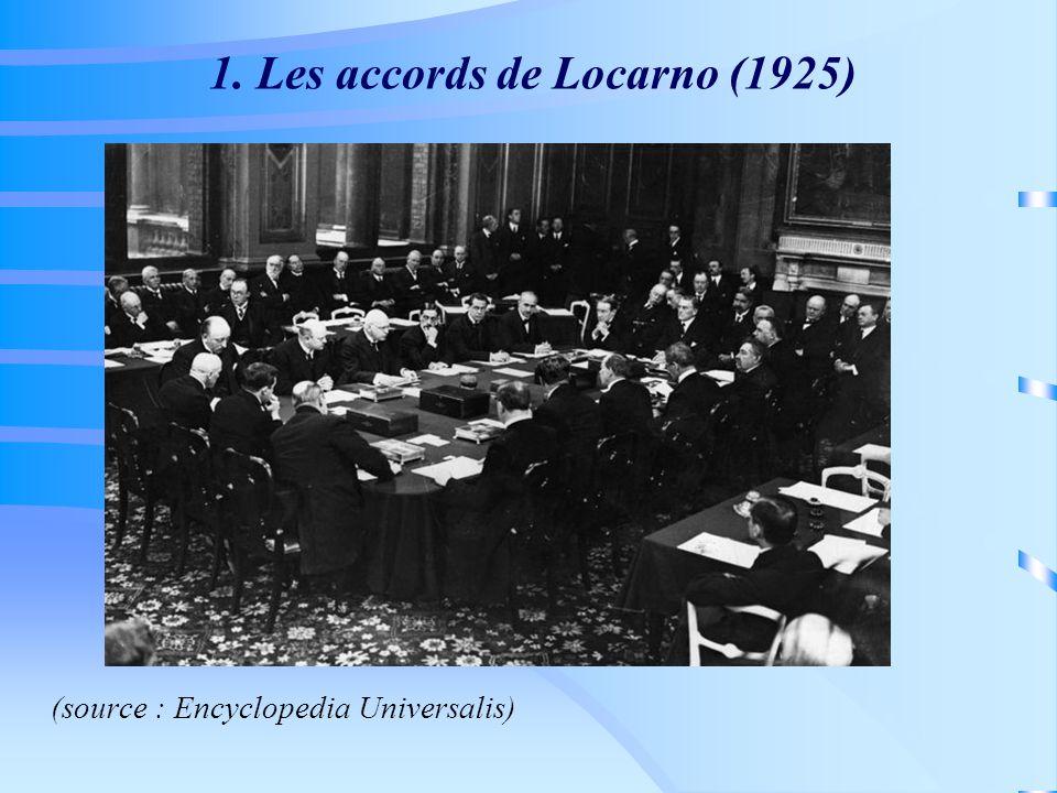 1. Les accords de Locarno (1925) (source : Encyclopedia Universalis)